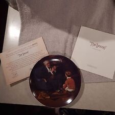 "Collector Plate #6 Rockwell Heritage Collection ""The Tycoon"" Cp-73"