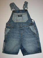New OshKosh Girls Denim Blue Jean Overalls Cherry Print 4T Shorts Vestbak