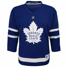 Youth L/XL Age 14-18 Toronto Maple Leafs Blue Premier Crest Blank Hockey Jersey