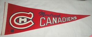 Montreal Canadiens NHL Vintage 1960's Era Hockey Pennant Full Size