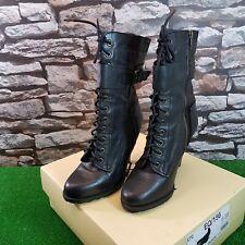 Next Mid Calf Victorian Style Lace Up Platform Boots UK 6 39 Punk Goth Free P&P