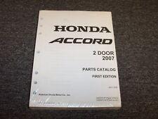 2007 Honda Accord Coupe Factory Parts Catalog Manual LX EX EX-L SE 2.4L 3.0L