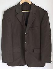 JONES NEW YORK Mens Brown Gray 3 Button Wool Blend Blazer Coat Jacket Size 40 S