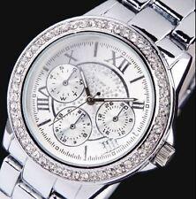 J6 Popular Luxury Dress Style Silver Analogue Roman Faux Chrono Fashion Watch