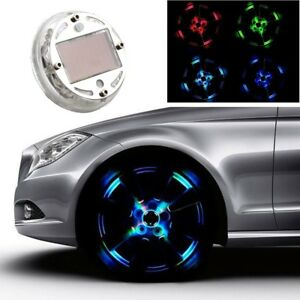 4 Mode Solar LED Wheel Hub Tire Tyre Valve Cap Signal Warning Car Truck Light