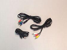 GoPro ORIGINAL Zubehör: 3 Kabel für HD Hero1, HD Hero2 + 960 (Audio-Video-Kabel)