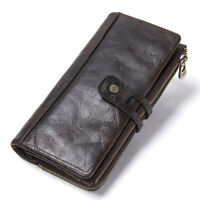 Women's Genuine Leather Wallet RFID Protect Bifold ID Card Holder Purse Clutch