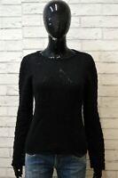 Maglione ARMANI Donna Taglia 42 ( S ) Pullover Cardigan Sweater Woman Nero Lana