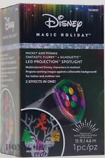 Disney Magic Holiday Mickey Minnie Fantastic Flurry Silhouette Spotlight