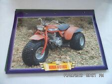 CARTE FICHE MOTO 1981 HONDA ATC 185 S