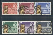 SINGAPORE 43-48 SG53-58 Used 1959 New Constitution set of 6 Cat$14