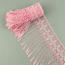 2 Yds rosa Lace Spitze Borte Applikation verzieren Nähen Kleidung Deco Handwerk