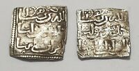 MERINIDES COINS LOT 2 DIRHAMS SQUARE SILVER COINS MARINIDS COLLECTION VF PATINA