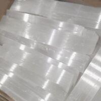 "lb LOT Selenite Logs Crystal Wands "" XL Bars Rough Natural WHOLESALE BULK Heal"