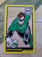 Dc Comic Arcade Card green lantern Rare Non Stamped Coin Pusher Non Elaut