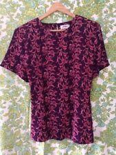 Purple Paisley Top -  Gorgeous Material & Pattern- size 16 Vtg Vintage Retro