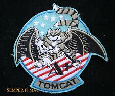 "4 1/2"" US NAVY F-14 A+ TOMCAT BABY PATCH USS TOPGUN STARS NAS PILOT WING CREW"