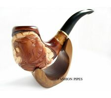 Fashion Carved LION Tobacco Pipe, Smoking Pipe/Pipes Exclusive Wooden Pipes