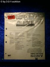 Sony Service Manual CDP 552ESD / 650ESD CD Player (#0454)