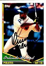 Orlando Merced - 94 Topps #281 -Signed Autographed Card- MLB Pittsburgh Pirates