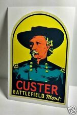 Montana Custer Vintage Style Travel Decal / Vinyl Sticker, Luggage Label