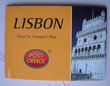LISBON - New Street & Transport Folded Map Pocket Guide Pop-Up Capital Portugal