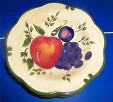 4 Home Trends Granada Grapes Apple Plum Fruit Green Band Bowls