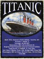 Titanic Facts Large Metal Sign