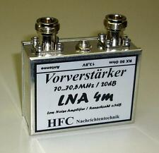 LNA-4m GaAs-FET Vorverstärker  / 20dB / 70 - 70,5 MHz Weißblechgehäuse