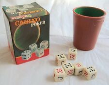 Vintage Llorca Poker Americano Dice + Shaker
