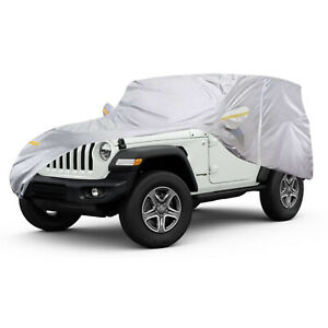 4x4 for Wrangler Non Scratch Black Indoor Show Car Cover SUV