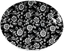 Verona Tray Sandwich Serving Porcelain Ceramic Black White Floral Hand Decor UK