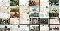 GB Postkarten Ke VII 1901 -1922 Poststempel Squared Kreis Duplex Von .99p Multi