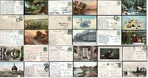 GB Postcards KE VII 1901 -1922 Postmarks Squared Circle Duplex from .99p Multi