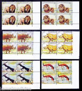 India Africa Summit 2015 MNH 6v Corner Blk, Wild Animals Rhino Lion Black Buck