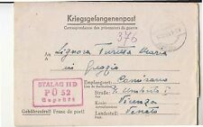 1943 POW letter from STALAG IID PÜ 52 to ITALY-RED BOXED Cancel-h691
