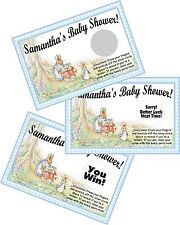 10 PETER RABBIT SCRATCH OFF OFFS & PARTY GAME GAMES CARDS BABY SHOWER FAVORS