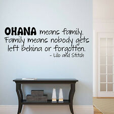 Ohana Means Family Quote Wall Decals Sticker Wall Decals Nursery Kids Room Mural
