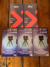 5X BLANK VHS/VIDEO TAPES FACTORY SEALED SKY/STRAND