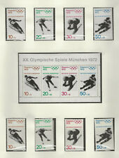 Germany B472-475, B475a & B475b-e MNH (Does not include page)  409975