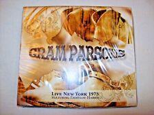 NEW SEALED 2 CD ALBUM GRAM PARSONS LIVE NEW YORK 1973 FEAT. EMMYLOU HARRIS 2014