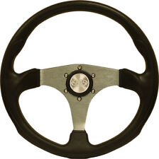 GENUINE SAAS QUALITY SPORTS STEERING WHEEL SILVER OCTANE