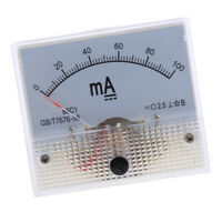 DC 0-100mA Analog Amp Meter Ammeter Current Panel Ampere Meter Milliammeter