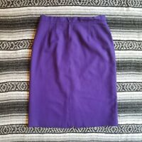 Vintage Radcliffe Sz L/XL Fully Lined 100% Wool Straight Pencil Skirt Purple