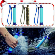 3pcs Outdoor Portable Water Filter Straw Hollow Fiber Emergency Survival Tool