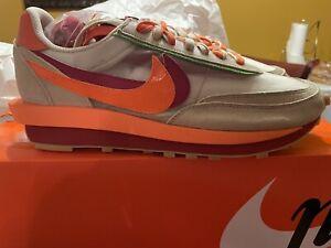 ✅IN HAND ✅ Nike LD Waffle sacai CLOT Net Orange Blaze Size 13 FAST SHIPPING