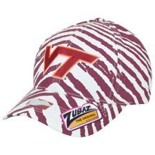 best service ef8db 1806c NCAA Virginia Tech Zubaz Maroon and White Zebra Cap Hat SnapBack OSFA