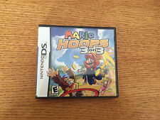 Mario Hoops 3 on 3 (Nintendo DS, 2006) - Game Cartridge & Case
