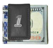 Harley-Davidson® Men's #1 Medallion Black Leather Magnetic Money Clip CR2381L