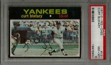 1971 OPC O-Pee-Chee #131 Curt Blefary PSA 8 NM-MT NY Yankees Baseball Card POP 7